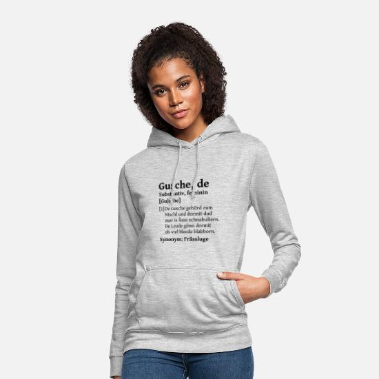 Birthday Hoodies & Sweatshirts - Gusche mouth saxon saxon lexicon dictionary - Women's Hoodie light heather grey