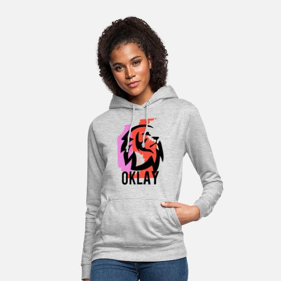 Big Hoodies & Sweatshirts - OKLAY GO T-SHIRT - Women's Hoodie light heather grey