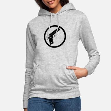 Uzi, pistol, weapon, weapons, machine gun, cloth - Women's Hoodie