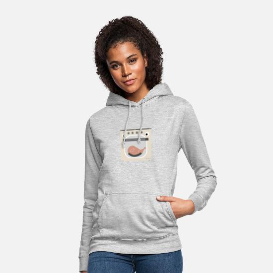 Dessin Au Crayon Sweat-shirts - Four comique - Sweat à capuche Femme gris clair chiné
