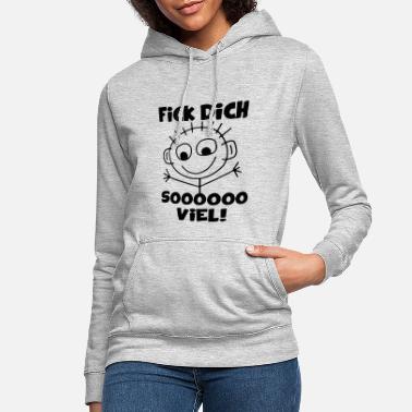 I Fun I Lustig I Sprüche I Sweatshirt Pullover Fick dich Zettelpuppe