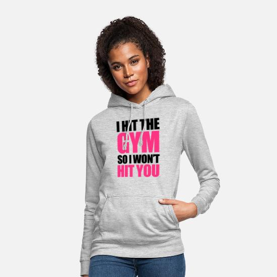 Gym Hoodies & Sweatshirts - Gym - Women's Hoodie light heather grey