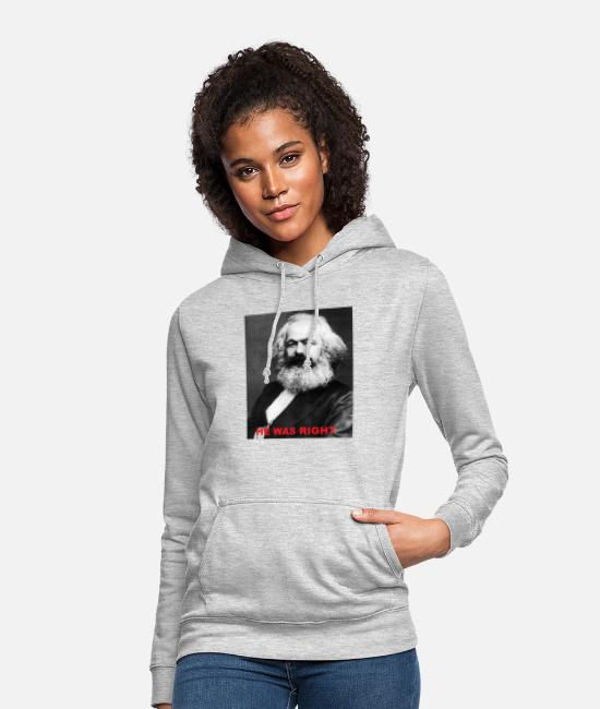 Social Hoodies & Sweatshirts - Karl Marx - Women's Hoodie light heather grey