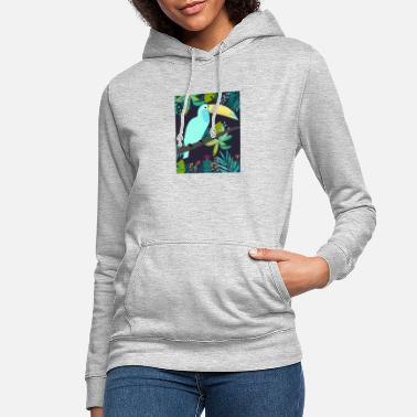 tucan in the jungle - Frauen Hoodie