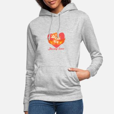 Amour Coeur de renards aimants - Sweat à capuche Femme