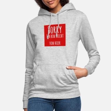 sorry i'm not red from here - Women's Hoodie