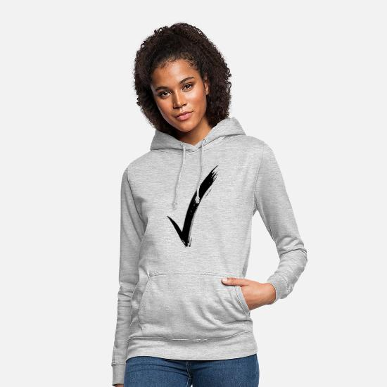 Boss Hoodies & Sweatshirts - check mark - Women's Hoodie light heather grey