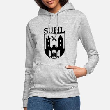 Simson Meet Simson Suhl coat of arms with text - Women's Hoodie