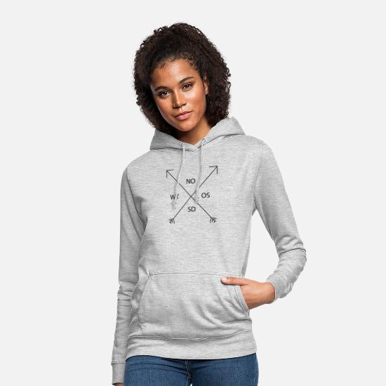 Birthday Hoodies & Sweatshirts - Cardinal compass style - Women's Hoodie light heather grey