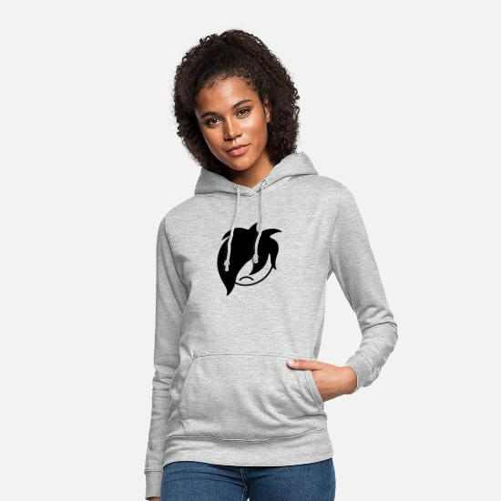 Unhappy Hoodies & Sweatshirts - Emo Smiley - Women's Hoodie light heather grey
