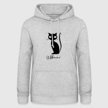 Chic cat Mimmi glamorous for every occasion - Women's Hoodie