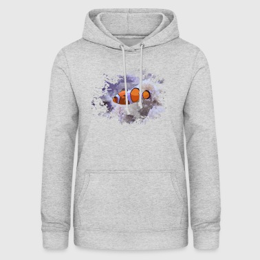 Poisson-clown - Sweat à capuche Femme