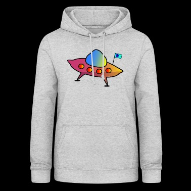 UFO, flying saucer, spaceship, scifi - Women's Hoodie