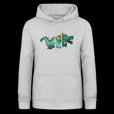 Zeichentrick Dino Comic Cartoon - Frauen Hoodie