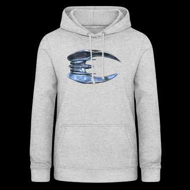 Battlestar Gallactica: Cylon Raider [Bottom View] - Women's Hoodie