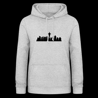 Skyline de Seattle - Sweat à capuche Femme
