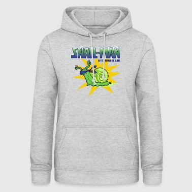 Snail-Man - by the Power of Slime - Women's Hoodie