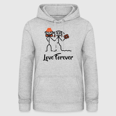 Wedding Couple - Love Forever - Women's Hoodie