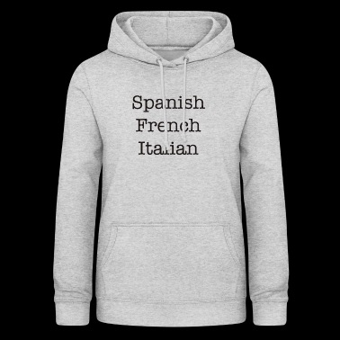 Language design - Women's Hoodie