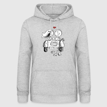 Wedding car with in love wedding couple - Women's Hoodie