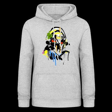 Horror stick figure face - Women's Hoodie