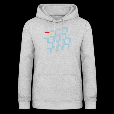 Illusion with cubes, blocks - Women's Hoodie