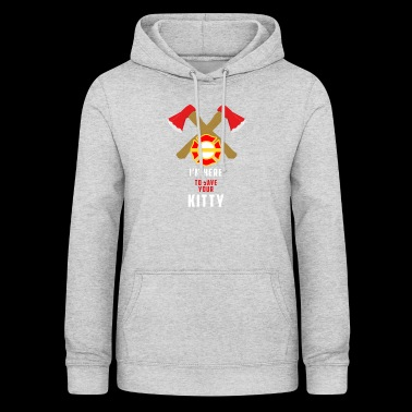 Cat - Firefighter - Save - Gift - Occupation - Women's Hoodie
