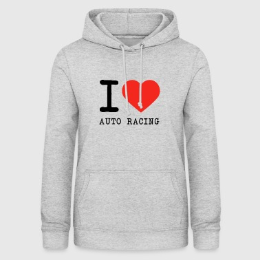 J'adore la course automobile - Sweat à capuche Femme