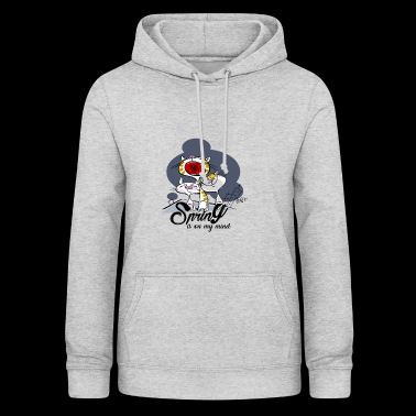 Yelling cat: Spring in the head - Women's Hoodie
