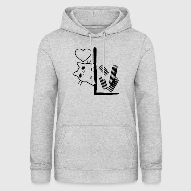 Cat wallpaper scratching - Women's Hoodie