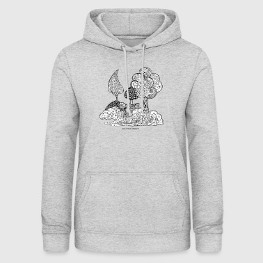 The garden of Elise in black and white - Women's Hoodie