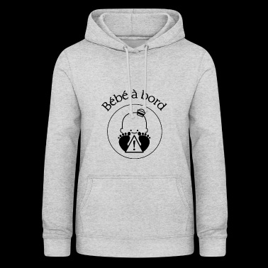 baby on black board - Women's Hoodie