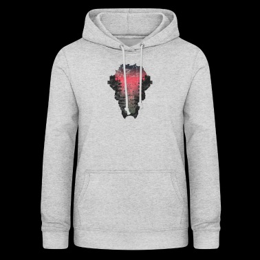 Gift silhouette city sunset house - Women's Hoodie