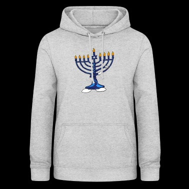 Dabbing Menorah Star Of David Hanukkah Dab Jewish - Women's Hoodie