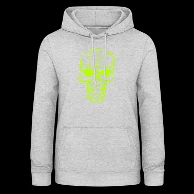 Skull Head in Barbed Wire - Women's Hoodie