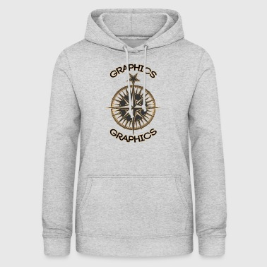 Graphics, compass - Women's Hoodie
