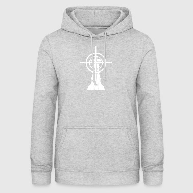 Chess / Chessboard: King with crosshairs - Women's Hoodie