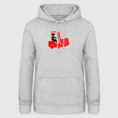 A Forklift Transporting A Box - Women's Hoodie