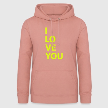 i love you - Sweat à capuche Femme