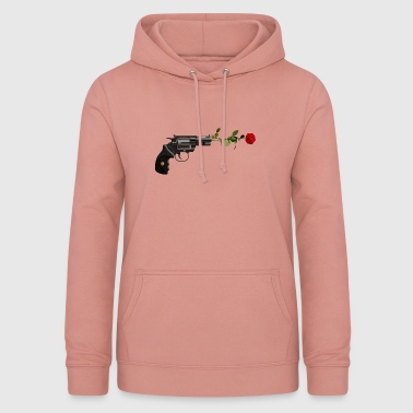 COOL STYLISH WEAPON & ROSE GUN & ROSE GIFT - Women's Hoodie