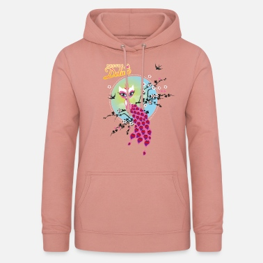 Peacock Pussy Deluxe Cat On Top Of Branches - Women's Hoodie
