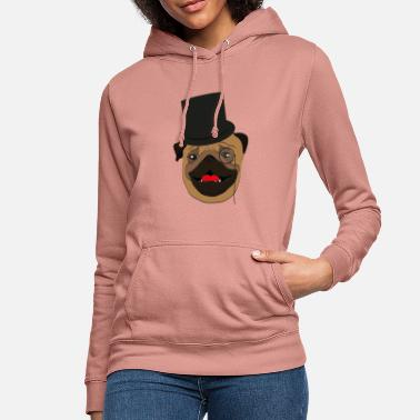 Wealthy The wealthy Pug - gift idea, monocle - Women's Hoodie