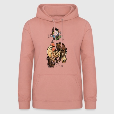 Thelwell Funny Illustration Bucking Horse - Vrouwen hoodie
