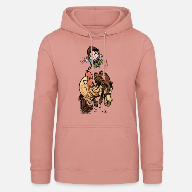 Thelwell Funny Illustration Bucking Horse - Dame hoodie