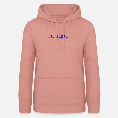 Ford ECG HEARTBEAT TRACTOR TRACTOR Blue - Vrouwen hoodie