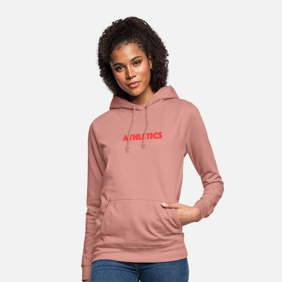 Gift Idea Hoodies & Sweatshirts - Athletics - sporty design for athletes - Women's Hoodie dusky rose