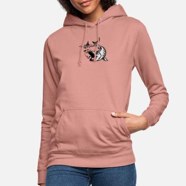 Bait Fish with bait - Women's Hoodie