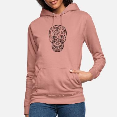 Decorated Skull Decorated skull with roses - Women's Hoodie