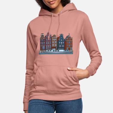 La mia città-Amburgo da donna con cappuccio Pullover S-XL