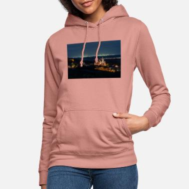 Katharinenkirche in front of the FFM skyline. Blue hour - Women's Hoodie